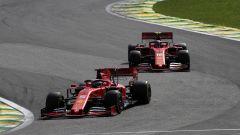 F1 GP Brasile 2019, Interlagos: Sebastian Vettel e Charles Leclerc (Ferrari)