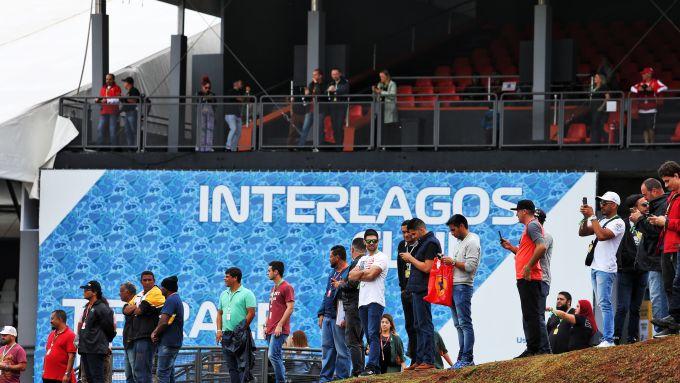 F1 GP Brasile 2019, Interlagos: una delle tribune del circuito di San Paolo