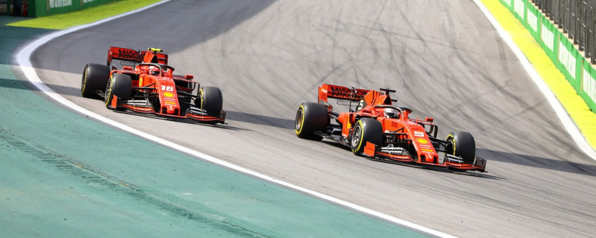 F1, GP Brasile 2019: Sebastian Vettel e Charles Leclerc (Ferrari)