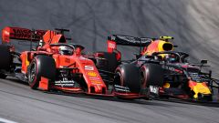 F1, GP Brasile 2019: Sebastian Vettel (Ferrari) e Alexander Albon (Red Bull)