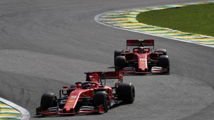 F1, GP Brasile 2019: Sebastian Vettel precede Charles Leclerc (Ferrari)
