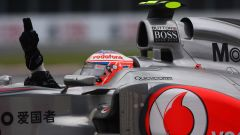 F1 GP Canada 2011, Montreal: Jenson Button (McLaren) esulta dopo il traguardo