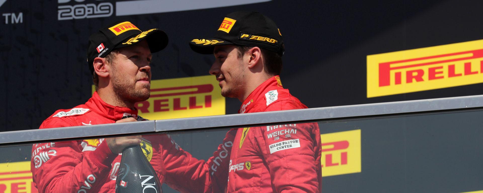 F1 GP Canada 2019, Sebastian Vettel e Charles Leclerc (Ferrari)