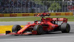F1 GP Canada 2019, Sebastian Vettel e, sullo sfondo, Charles Leclerc (Ferrari)