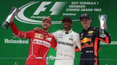 F1 GP Cina 2017, il podio