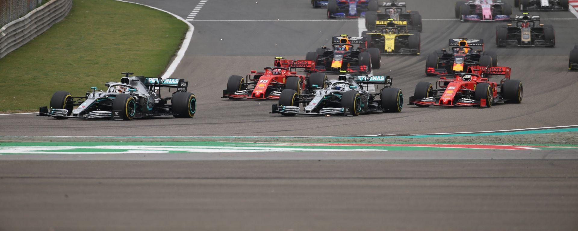 F1 GP Cina 2019, la partenza della gara