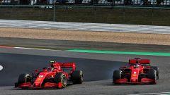 F1 GP Eifel 2020, Nurburgring: Sebastian Vettel e Charles Leclerc (Scuderia Ferrari)