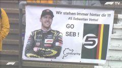 F1, GP Eifel 2020: Vettel con la tuta Aston Motorboxsport