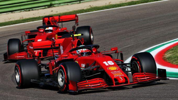 F1 GP Emilia Romagna 2020, Imola: Charles Leclerc e Sebastian Vettel (Scuderia Ferrari)