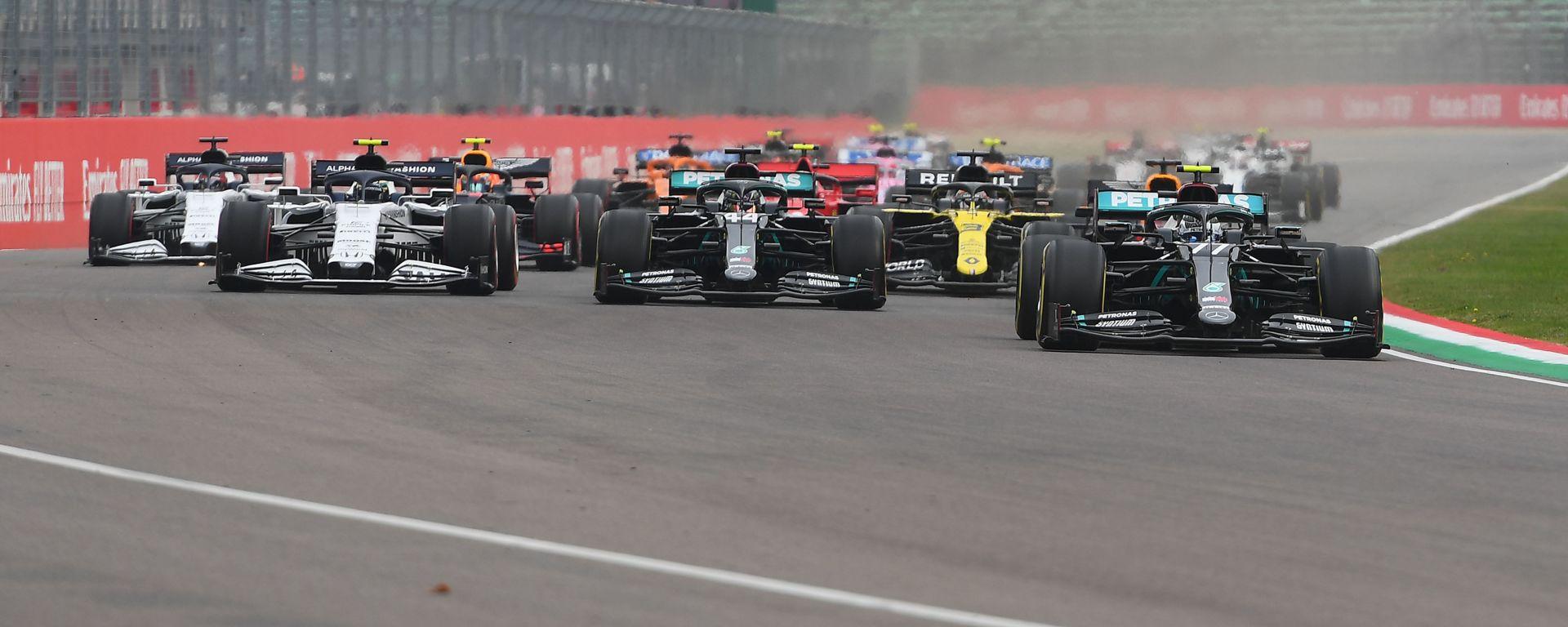 F1 GP Emilia Romagna 2020, Imola: la partenza della gara