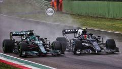 F1 GP Emilia Romagna 2020, Imola: Lance Stroll (Aston Martin) sorpassa Pierre Gasly (AlphaTauri)