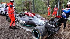 F1 GP Emilia Romagna 2020, Imola: l'auto incidentata di Valtteri Bottas (Mercedes)