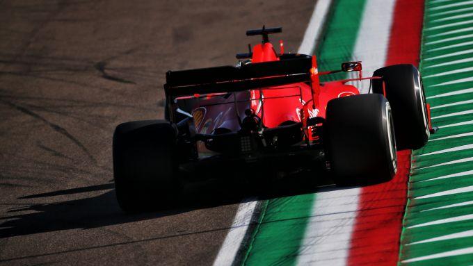 F1 GP Emilia Romagna 2020, Imola: Sebastian Vettel (Scuderia Ferrari) durante le qualifiche