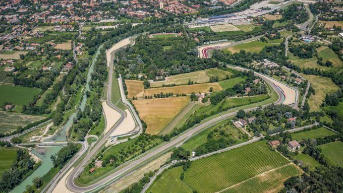 F1 GP Emilia Romagna 2020, Imola: vista aerea del circuito