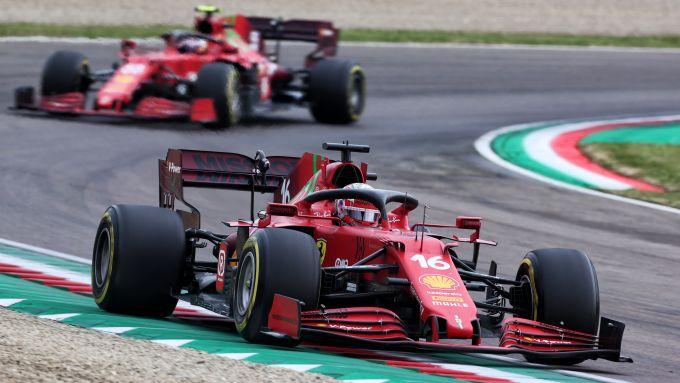 F1 GP Emilia Romagna 2021, Imola: Charles Leclerc e Carlos Sainz (Scuderia Ferrari)