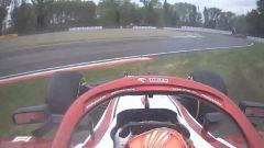 F1 GP Emilia Romagna 2021, Imola: il testacoda di Raikkonen (Alfa Romeo) in fase di ripartenza