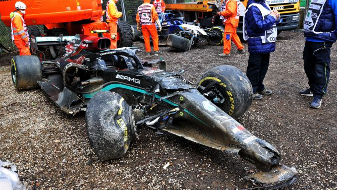 F1 GP Emilia Romagna 2021, Imola: l'auto incidentata di Valtteri Bottas