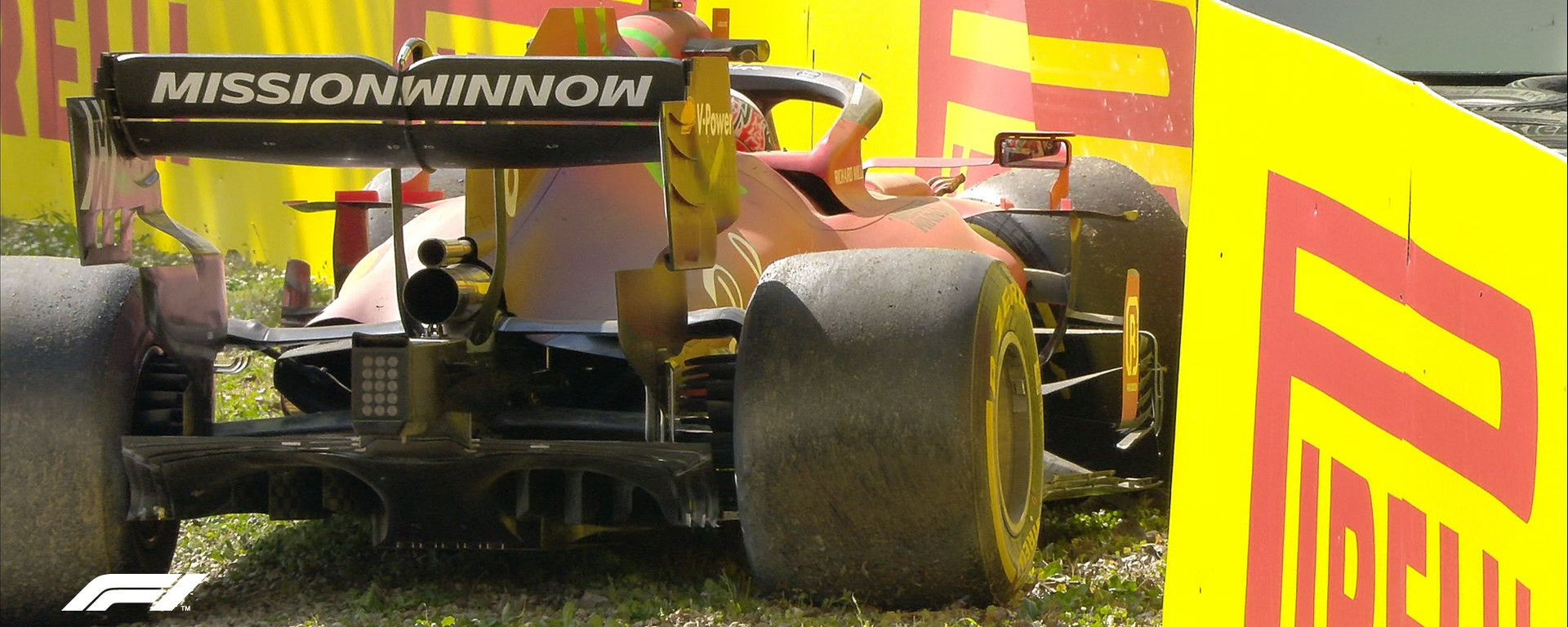 F1 GP Emilia Romagna 2021, Imola: l'incidente di Charles Leclerc (Scuderia Ferrari)