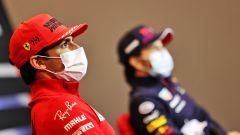 F1 GP Emilia Romagna 2021, Imola: Sainz (Ferrari) in conferenza con Perez (Red Bull)