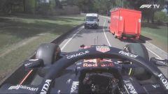 F1, GP Emilia Romagna 2021: la Red Bull di Max Verstappen a spasso per Imola