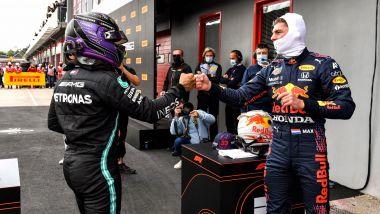 F1, GP Emilia Romagna 2021: Lewis Hamilton e Max Verstappen