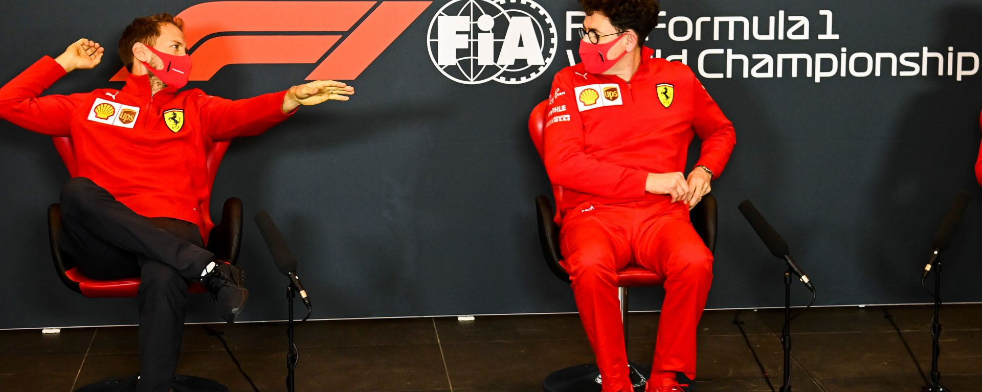 F1, GP Emilia Romagna: Sebastian Vettel e Mattia Binotto (Ferrari)