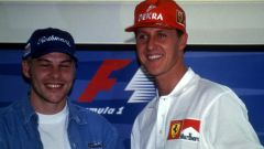 F1, GP Europa 1997: Jacques Villeneuve (Williams) e Michael Schumacher (Ferrari)