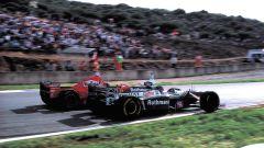 F1, GP Europa 1997: Michael Schumacher (Ferrari) e Jacques Villeneuve (Williams)