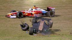 F1 GP Europa 1999, Nurburgring: uno dei tanti incidenti della gara | Foto: F1.com