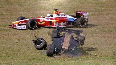 F1 GP Europa 1999, Nurburgring: uno dei tanti incidenti della gara