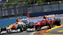 F1 GP Europa 2012, Valencia: Nico Hulkenberg (Force India) e Fernando Alonso (Ferrari)