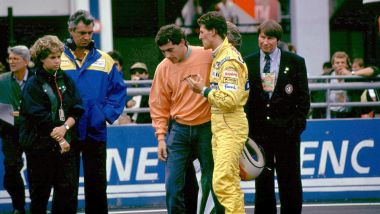 F1 GP Francia 1992, Magny-Cours: la famosa ramanzina di Senna (McLaren) a Schumacher (Benetton)