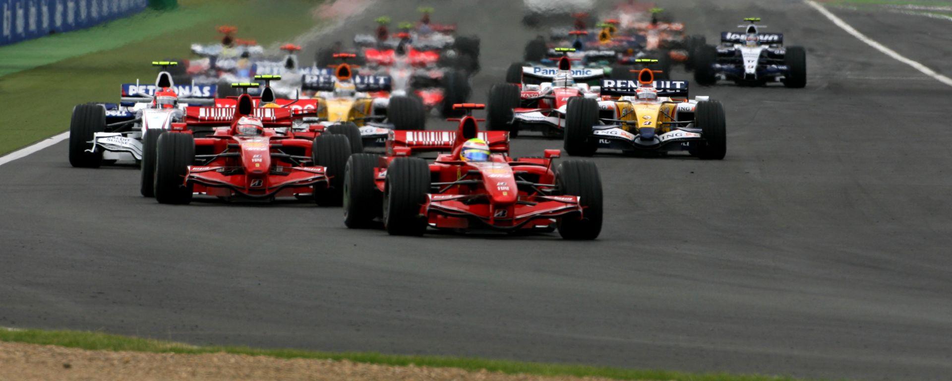 F1 GP Francia 2007, Magny-Cours: la partenza della gara