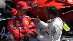 F1 GP Francia 2019, Charles Leclerc (Ferrari) e Lewis Hamilton (Mercedes)
