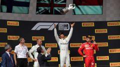 F1 GP Francia 2019, Hamilton festeggia sul podio