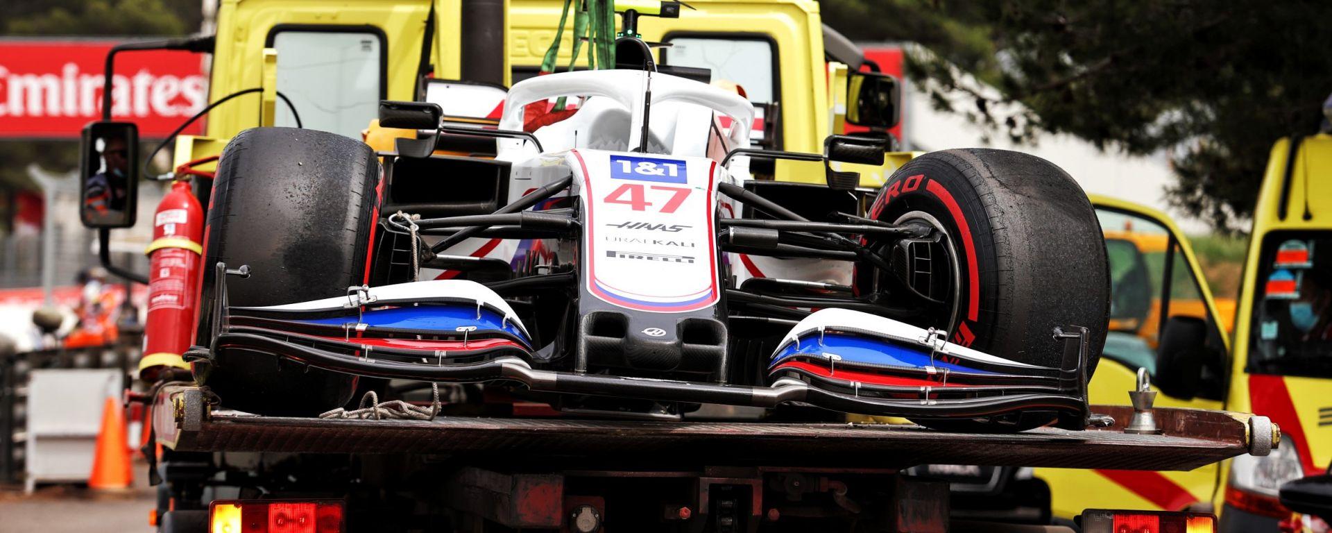 F1, GP Francia 2021: la Haas incidentata di Mick Schumacher