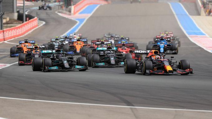 F1, GP Francia 2021: la partenza della gara