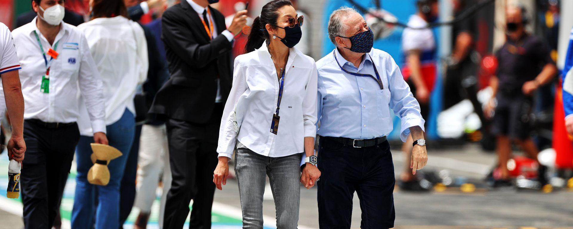 F1 GP Francia 2021, Le Castellet: Jean Todt (Fia) con la compagna Michelle Yeoh