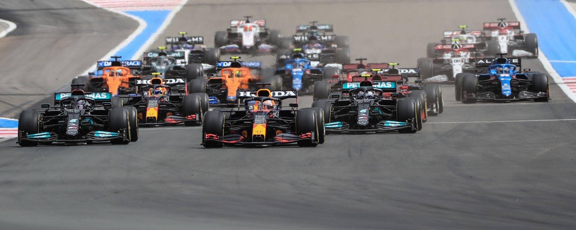 F1 GP Francia 2021, Le Castellet: la partenza della gara