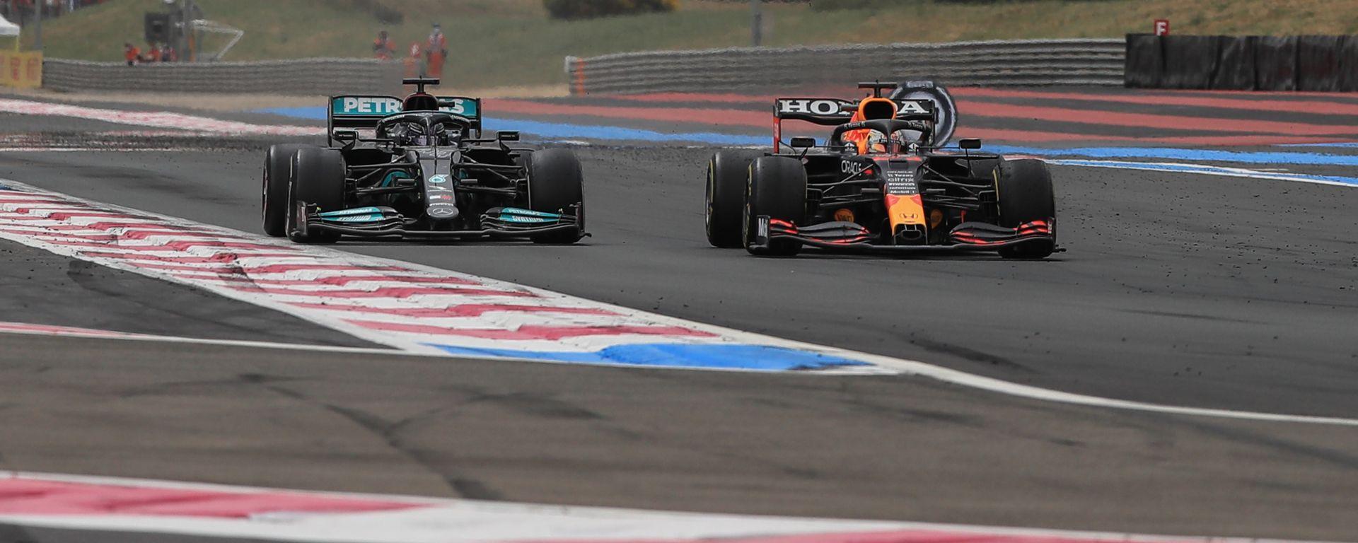 F1 GP Francia 2021, Le Castellet: Lewis Hamilton (Mercedes), Max Verstappen (Red Bull)