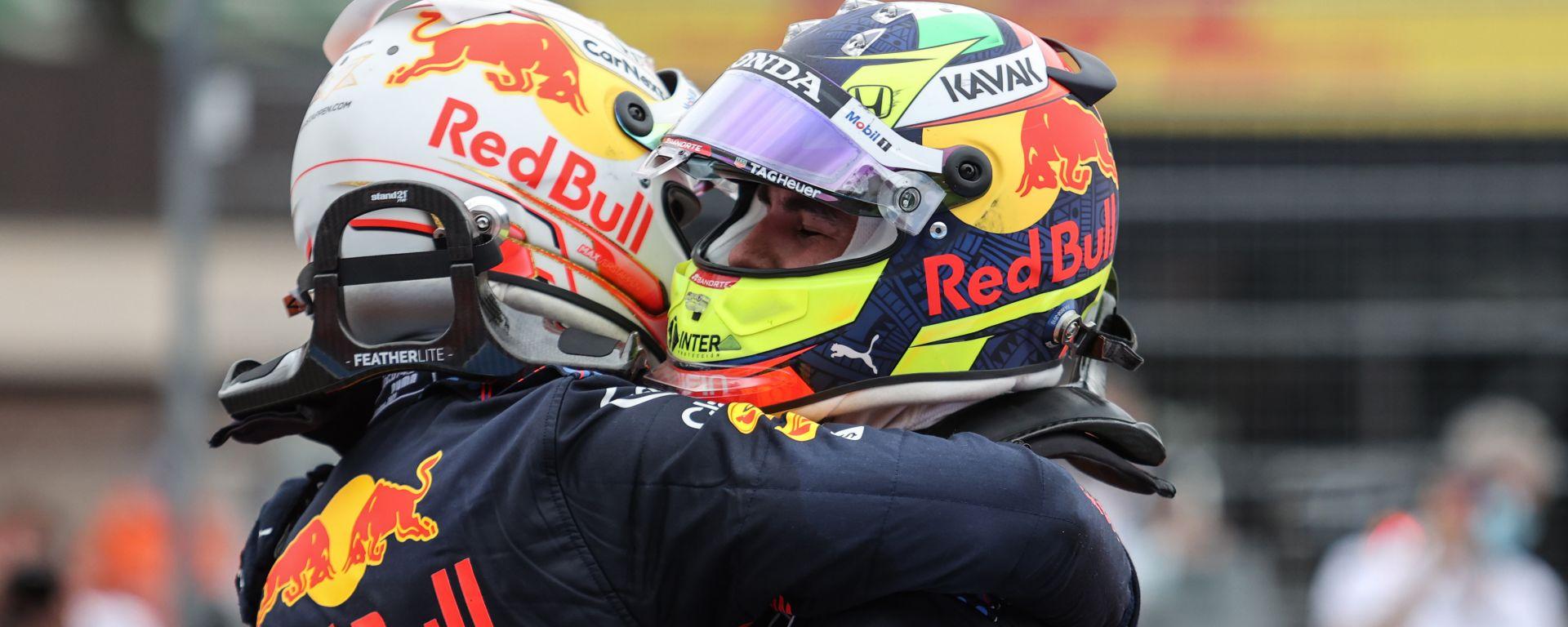 F1 GP Francia 2021, Le Castellet: Max Verstappen e Sergio Perez (Red Bull Racing)