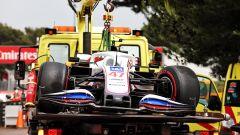 F1 GP Francia 2021, Le Castellet: Mick Schumacher (Haas) a muro in qualifica