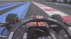 F1 GP Francia 2021, Le Castellet: Sergio Perez (Red Bull Racing) oltre i track limit a Signes