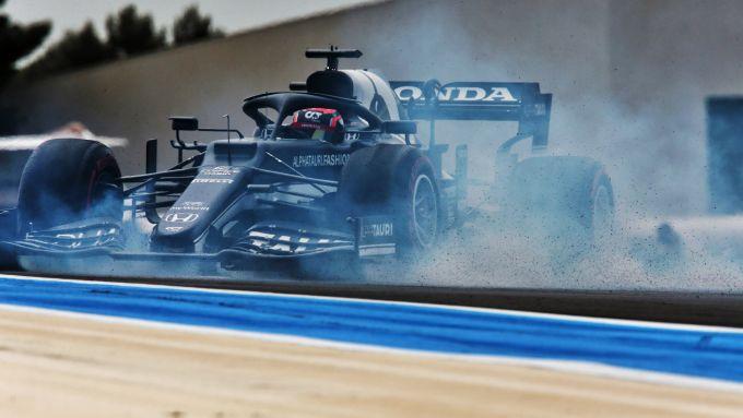 F1 GP Francia 2021, Le Castellet: Yuki Tsunoda (AlphaTauri) testacoda nelle qualifiche