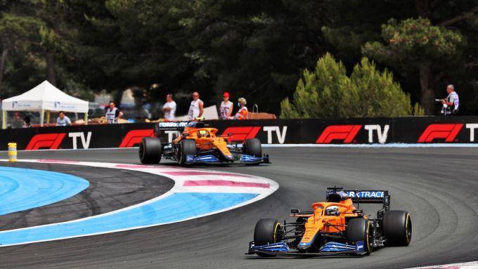 F1, GP Francia 2021: le McLaren di Ricciardo e Norris
