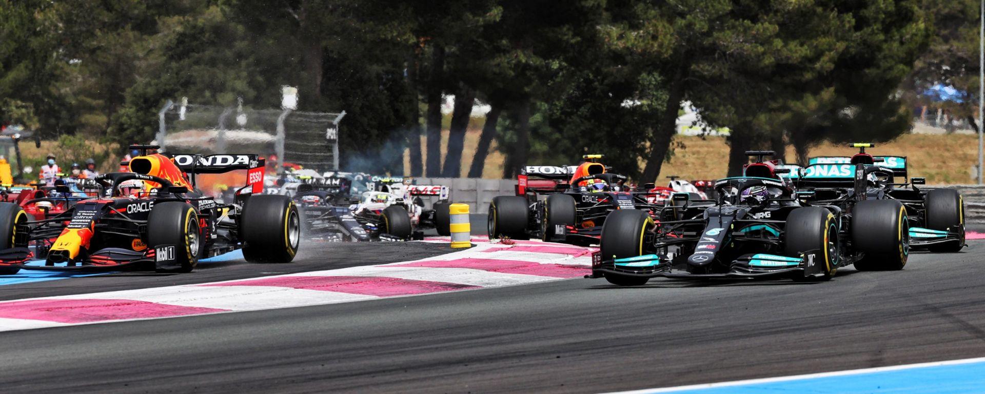 F1, GP Francia 2021: le prime fasi di gara