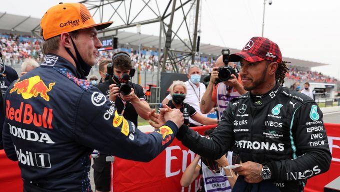 F1, GP Francia 2021: Max Verstappen e Lewis Hamilton al termine delle qualifiche