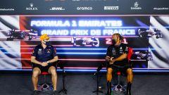 F1, GP Francia 2021: Max Verstappen e Lewis Hamilton in conferenza stampa