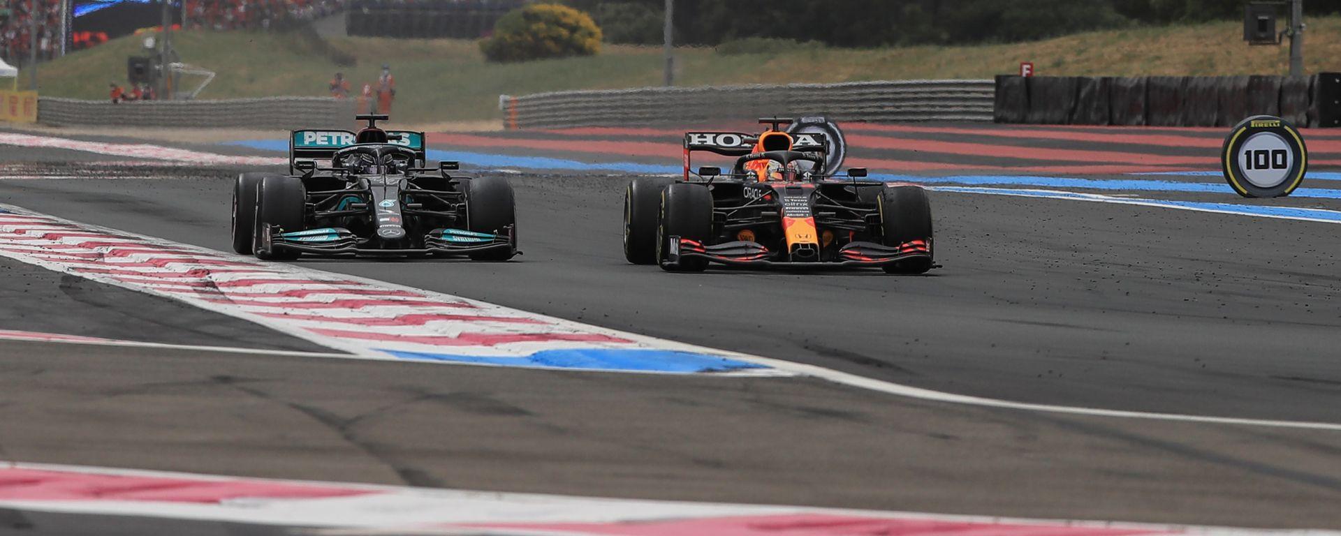 F1 GP Francia 2021, Paul Ricard: Il sorpasso di Max Verstappen (Red Bull) a Lewis Hamilton (Mercedes)