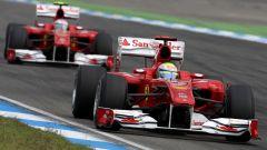 F1, GP Germania 2010: Felipe Massa precede Fernando Alonso (Ferrari)